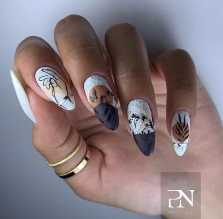 Фото маникюра осень на короткие и длинные ногти