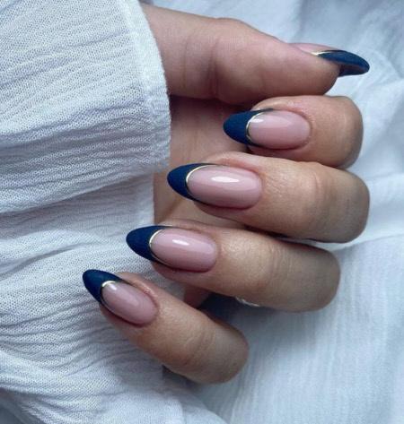 Фото французского маникюра на длинные ногти