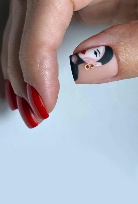 Дизайн ногтей в стиле поп-арт