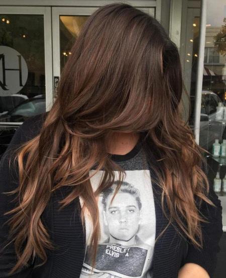 Фото стрижки каскад на длинные волосы