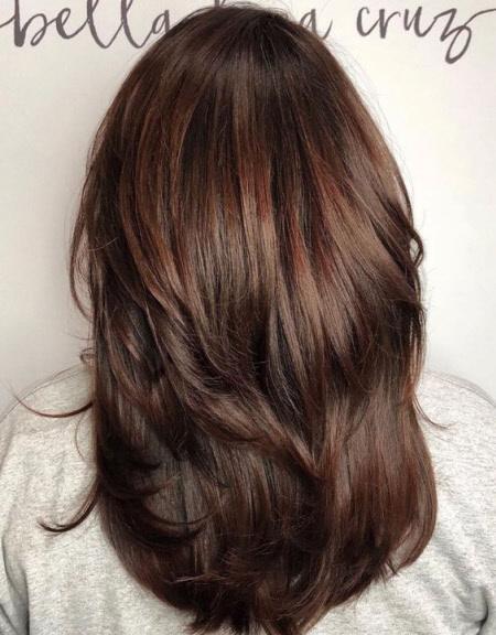Многослойные стрижки на длинные волосы