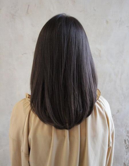 U-образная стрижка на длинные волосы